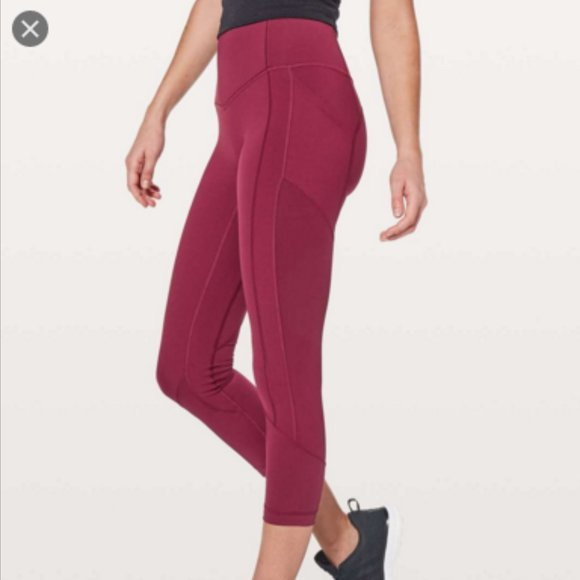 "lululemon athletica Pants - All The Right Places Crop II 23"" in Ruby"